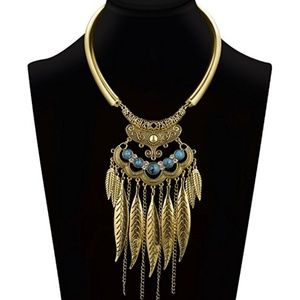 Jewelry - Women Bohemian Statement Necklace Vintage Neck Str